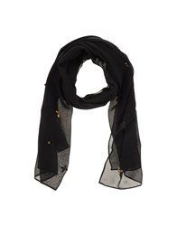Annarita N. Accessories Oblong Scarves Women Black