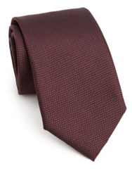Pal Zileri Textured Silk Tie Burgundy