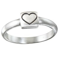 Satya Jewelry Stackable Ring Heart Silver