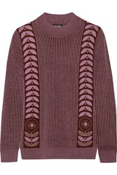 Anna Sui Wool Blend Sweater Lavender