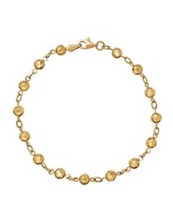Lord And Taylor 14K Yellow Gold Beaded Bracelet
