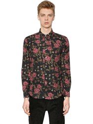 Antonio Marras Floral Printed Cotton Poplin Shirt