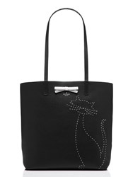 Kate Spade On Purpose Embroidered Leather Cat Tote