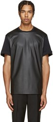 Neil Barrett Black Faux Leather T Shirt