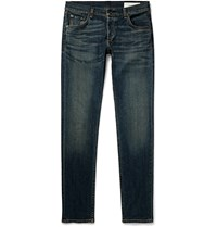 Rag And Bone Slim Fit Fit 2 Washed Stretch Denim Jeans Blue