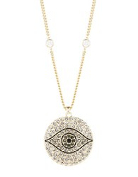 Theodora And Callum Evil Eye Pave Necklace Black