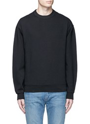 Alexander Wang Vintage Fleece Cotton Blend Sweatshirt Black