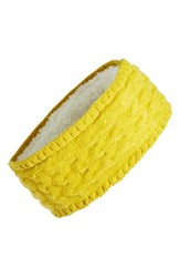 Echo Knit Headband Mustard