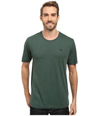 Tommy Bahama Solid Cotton Modal Jersey Basic Short Sleeve T Shirt Bottle Green Men's T Shirt