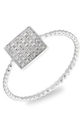 Women's Bony Levy Diamond Pave Square Ring