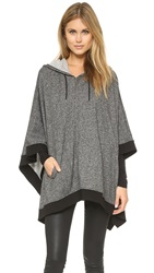 Soft Joie Orynn B Poncho Heather Charcoal Caviar
