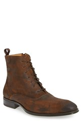 Mezlan Men's 'Tarzo Ii' Medallion Toe Boot Tan