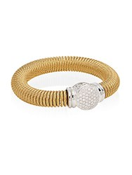 Alor Diamond 18K Yellow Gold And Stainless Steel Coil Bracelet