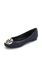 Tory Burch Quinn Ballet Flats Denim Tory Navy Gold