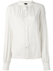 Joseph Mandarin Collar Shirt Nude And Neutrals