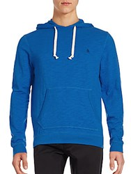 Original Penguin Long Sleeve Cotton Hoodie Victoria Blue