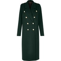 River Island Womens Green Double Breasted Military Coat
