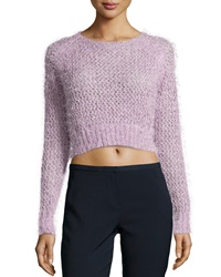 Dex Knit Cropped Sweater Lilac