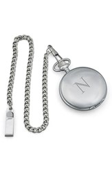 Cathy's Concepts Silver Plate Personalized Pocket Watch N