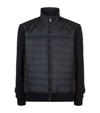 Paul And Shark Quilted Fleece Jacket Male Navy