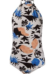Andrea Marques Abstract Print Bodysuit