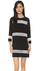Shoshanna Striped Dress Jet