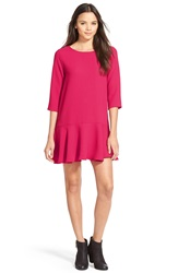 Everly Drop Waist Shift Dress Magenta