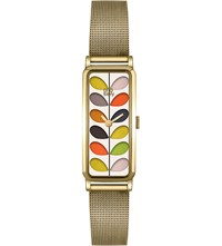 Orla Kiely Rectangular Stainless Steel Watch Mixed
