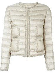 Moncler 'Lissy' Padded Jacket Nude And Neutrals