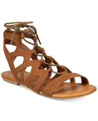 American Rag Marlie Lace Up Sandals Only At Macy's Women's Shoes Maple