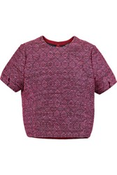 Raoul Cocoon Tweed Top Bright Pink