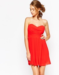 Tfnc Prom Dress In Pleated Chiffon Red