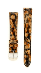 Michele 16Mm Patent Leather Watch Strap Cheetah