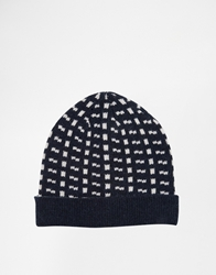 Selected Hobson Bobble Hat Navy