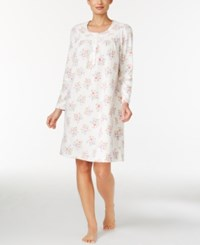 Charter Club Fleece Lace Trimmed Printed Nightgown Only At Macy's Ivory Roses