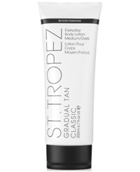 St. Tropez Gradual Tan Classic Everyday Body Lotion Medium Dark 200 Ml No Color