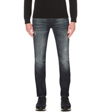 Hugo Boss Slim Fit Tapered Jeans Navy
