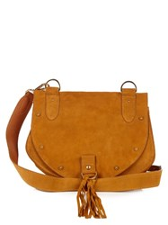 See By Chloe Collins Leather And Suede Cross Body Bag Dark Yellow