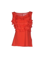 Henry Cotton's Topwear Tops Women Red