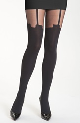 Pretty Polly 'House Of Holland Super Suspender' Tights Black