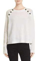 The Kooples Women's Button Detail Cashmere Sweater