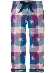Fat Face Snowflake Jacquard Check Print Pyjama Bottoms Fig