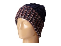 San Diego Hat Company Knh3378 Oversized Cable Knit Beanie With Marled Yarn Cuff Navy Beanies