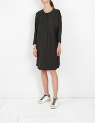 Creatures Of Comfort Margaritte Dress Silk Linen Black