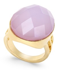 Inc International Concepts Gold Tone Pink Crystal Cocktail Ring Only At Macy's