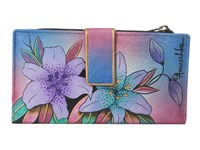 Anuschka 1114 Luscious Lilies Denim Handbags Multi