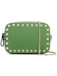 Valentino 'Rockstud' Camera Crossbody Bag Green