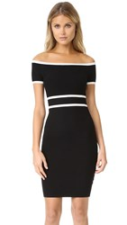 Ali And Jay Off Shoulder Sweater Dress Black White