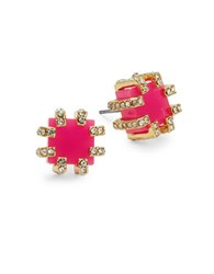 Trina Turk Square Stud Earrings Coral