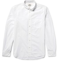 Acne Studios Isherwood Slim Fit Button Down Collar Cotton Poplin Shirt White